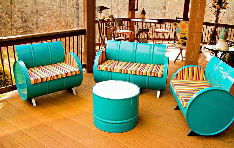 Sofa Dari Drum Bekas
