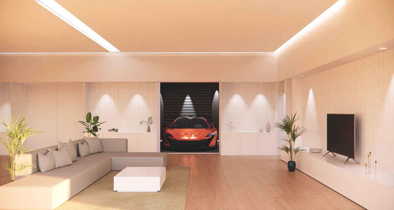 Plafon Dengan Hidden Lighting